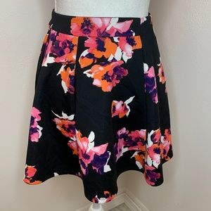Decree Mini Flare Skirt in a Floral Print